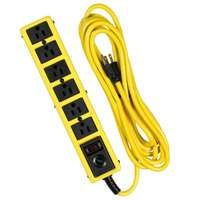 CCI 5138N Surge Protector Power Strip, 15 A, 6-Outlet, 1050 J, Black/Yellow