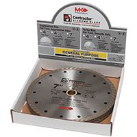 MK 167046 Saw Blade, 7/8 to 5/8 in Arbor, Diamond Cutting Edge