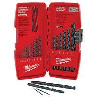 Milwaukee 48-89-2803 Drill Bit Set, Steel, Black Oxide, 15-Piece