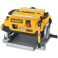 DeWALT DW735 Thickness Planer with Three Cutter, 120 V, 2 hp, 13 ft L Cord, Aluminum