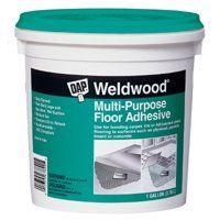DAP Weldwood 00141 Floor Adhesive, 1 qt Pail