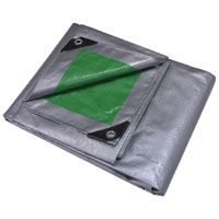 ProSource Heavy Duty Reversible Tarp With Aluminum Grommets, 10 Ft L X 8 Ft W, 12 X 12 In Mesh, Polyethylene