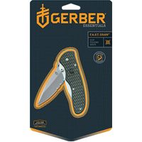 GERBER 22-47161 Folding Knife, 2.99 in L Blade, 1-Blade, Black Handle