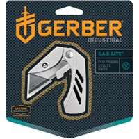 GERBER 31-000345 Folding Knife, 1-1/2 in L Blade, 1-Blade, Silver Handle