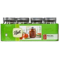 Ball 1440061000 Regular Mouth Mason Jar, 16 oz Capacity, Glass