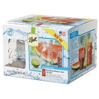 Ball 1440016001 Drinking Mug, 16 oz Capacity, Glass, Clear