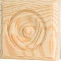 Waddell RTB35 Trim Block, 3-3/4 in W, 3-3/4 in H, Pine Wood
