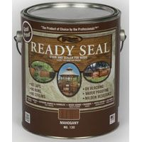 Ready Seal 130 Stain and Sealer, Mahogany, 1 gal Can
