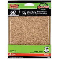 Gator 5033 Sanding Sheet, 60-Grit, Coarse, Aluminum Oxide, 5-1/2 in L