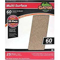 Gator 3266 Sanding Sheet, 60-Grit, Coarse, Aluminum Oxide