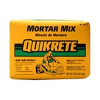 Quikrete 1102-60 Mortar Mix, Solid, Gray, 60 lb Bag