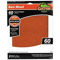Gator 4462 Sanding Sheet, 60-Grit, Paper Backing, Garnet