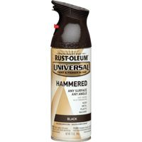 RUST-OLEUM UNIVERSAL 245217 Spray Paint, Hammered, Black, 12 oz Can