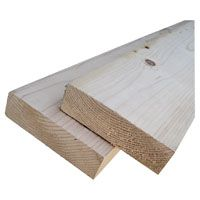 ALEXANDRIA Moulding 102X2-WS096C1 Wood Molding, 8 ft L Actual, 2 in W Actual, 2 in Thick Actual