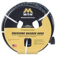 Mi-T-M AW-0015-0239 Pressure Washer Hose, 3000 psi Plug, 30 ft L
