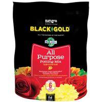 sun gro BLACK GOLD 1410102 8.00 QT P Potting Mix, Brown/Earthy, Granular Grain, 240 Bag