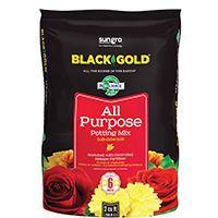sun gro BLACK GOLD 1410102 2.0 CFL P Potting Mix, Brown/Earthy, Granular Grain, 40 Bag