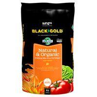 sun gro BLACK GOLD 140204016QTP Potting Mix, Brown/Earthy, Granular Grain, 120 Bag
