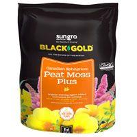 sun gro Sunshine 1410403 8 QT P Peat Moss, 8 qt Bag