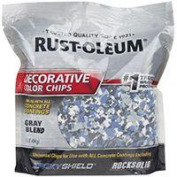 RUST-OLEUM EPOXYSHIELD 301359 Decorative Color Chips, Gray Blend, 1 lb Bag