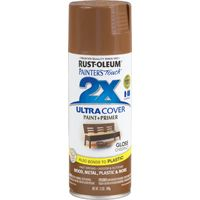 RUST-OLEUM PAINTER'S Touch 249847 General-Purpose Gloss Spray Paint, Gloss, Chestnut, 12 oz Aerosol Can