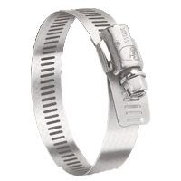 Ideal-Tridon Hy-Gear 68-0 Series 6856053 Interlocked Worm Gear Hose Clamp, #56, Stainless Steel