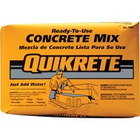 Quikrete 1101-60 Concrete Mix, Brown/Gray