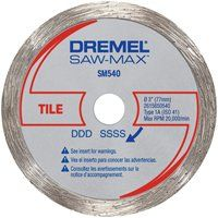 DREMEL SM540 Circular Saw Blade, 3 in Dia, Diamond Cutting Edge, 3/8 in Arbor
