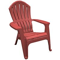 Adams RealComfort 8371-95-3900 Adirondack Chair, 250 lb Weight Capacity, Polypropylene Frame, Merlot Frame