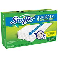 Swiffer 96826 Disposable Sweeper Cloth, 16 Pads Capacity, For Swiffer Max Sweeper