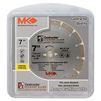 MK 167015 Saw Blade, 7/8 to 5/8 in Arbor, Diamond Cutting Edge