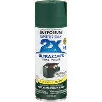 RUST-OLEUM PAINTER'S Touch 249853 All-Purpose Semi-Gloss Spray Paint, Semi-Gloss, Hunter Green, 12 oz Aerosol Can