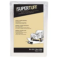 Trimaco SUPERTUFF 02301 Drop Cloth, 12 ft L, 9 ft W, Paper, White