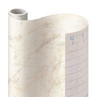 Con-Tact 09F-C9823-12 Multi-Purpose Contact Paper, 9 ft L, 18 in W, Paper, Beige Marble