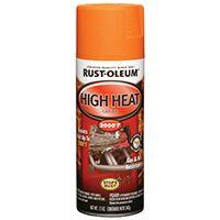 RUST-OLEUM 248905 Specialty Automotive High Heat Spray Paint, Flat, Orange, 12 oz Aerosol Can