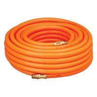 Amflo 576-50A Air Hose, 3/8 in OD, MNPT, PVC, Orange