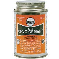 HARVEY C-4 Series 018720-12 Solvent Cement, Orange, 16 oz Can