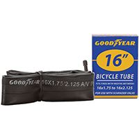 Kent 91075 Bicycle Tube, Butyl Rubber, Black, For 16 x 1-3/4 in to 2-1/8 in W Bicycle Tires