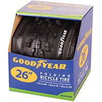 Kent 91059 Folding Mountain Bike Tire, Black, For 26 x 2 to 2.10 to 2-1/8 in Rim