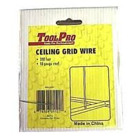 ToolPro 05122 Ceiling Wire, Galvanized Steel