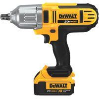 DeWALT DCF889M2 Impact Wrench Kit, 20 V Battery, Lithium-Ion Battery, 1/2 in Drive, Square Drive