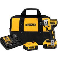 DeWALT DCF890M2 Impact Wrench Kit, 20 V Battery, Lithium-Ion Battery, 3/8 in Drive, Square Drive