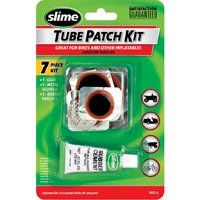 Slime 1022-A Tube Patch Kit, For Bikes and Inflatables, Tires with Inner Tubes, 7