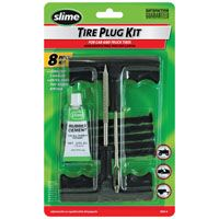 Slime 1034-A Medium Tire Plug Kit, For ATVs, Lawn Mowers Trailers and Other Tubeless Off-Road Tires, Wheelbarrows, 8
