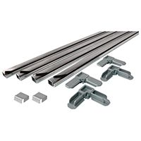 Make-2-Fit PL 7804 Screen Frame Kit, Aluminum, Mill, 10-Piece, For 48 x 48 in Screen Frame