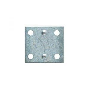 National Hardware N220-087 Mending Brace, 1-1/2 in L, Steel, 0.07 in, Zinc