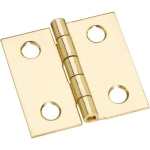 National Hardware N211-334 Decorative Broad Hinge, 2 lb Weight Capacity, Brass