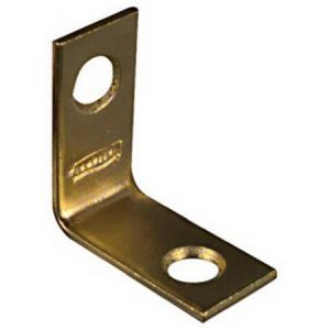 National Hardware V1875 Series N213-389 Corner Brace, 1 in L, Brass