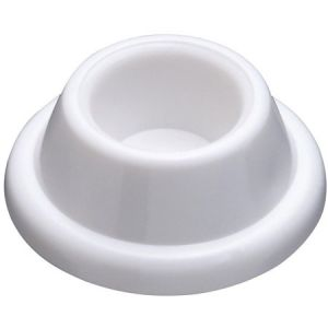 National Hardware N215-897 Door Stop, 1.9 in Dia Base, 0.72 in Projection, Plastic, White