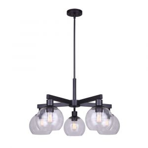 Landry 5-light chandelier, MBK Color